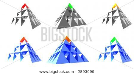 Abstract Pyramids With Color Top