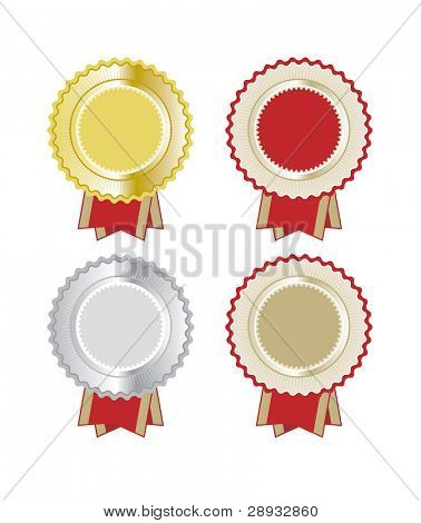 Vector illustrations of a set of rosettes