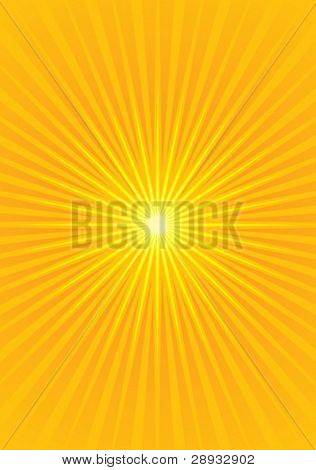 Vector illustration of a Yellow Starburst