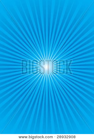 Vector illustration of a Blue Starburst