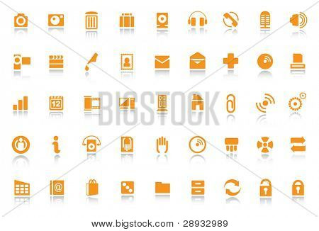 Icons and Symbols - editable vector illustrations
