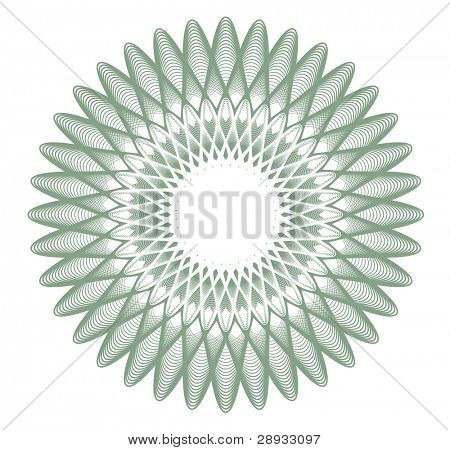guilloche rosette, watermark - editable vector illustration
