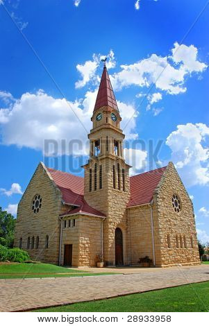 Beautiful small church in the countryside in South Africa