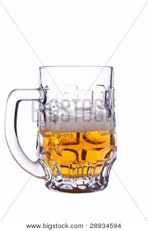 La mitad de una cerveza