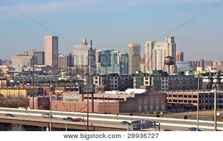 Baltimore City Skyline