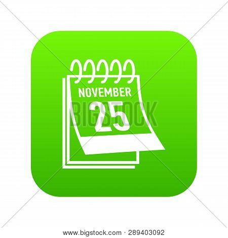 Calendar Twenty Fifth November Black