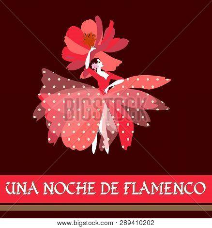 Spanish Ballerina In Red Dress