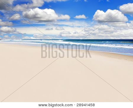 an Open empty tropical island beach