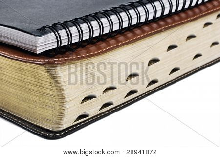 Holy bible and notebook