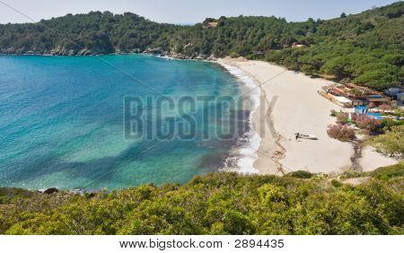 Fetovaia Beach, Marina Di Campo, Isle Of Elba, Italy.