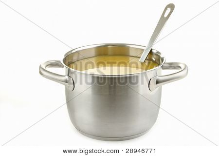 cooking pot and soup