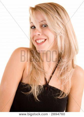 Beautiful Smiling Blonde Isolated On White