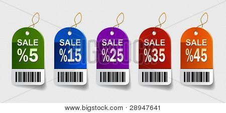 Vector illustration of sale labels
