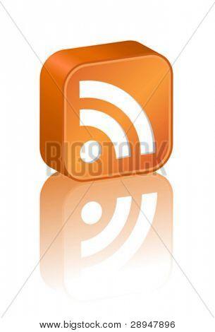 3D RSS icon