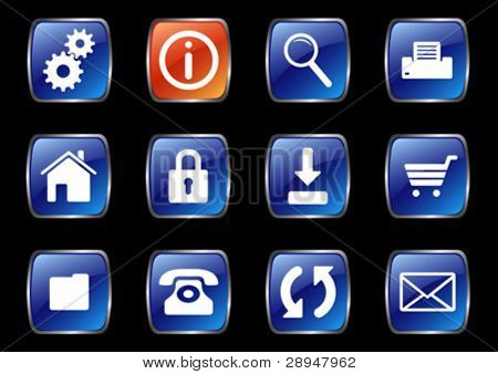 A set of useful internet icons