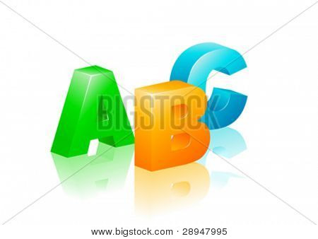 Colorful ABC icon