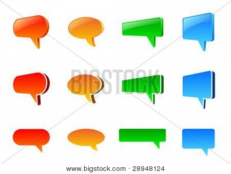 Vector set of colorful speech bubbles.