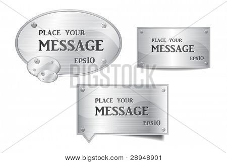 Vector illustration of metallic bubbles speech