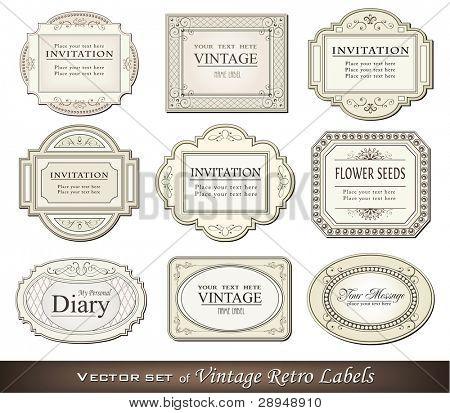 Vector illustration of vintage retro labels