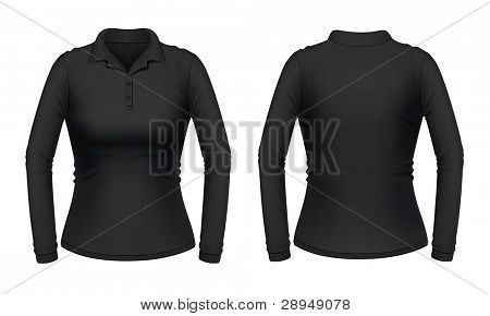 Black long sleeve female shirt