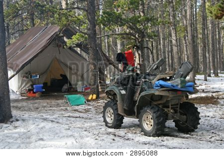 October Hunting Camp In The Big Horn Mountains