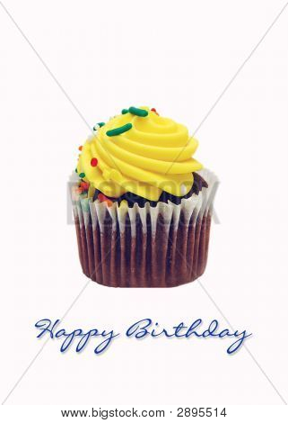 Isolated Cupcake For Greeting Card