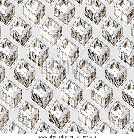 vector seamless repeating wallpaper with buildings