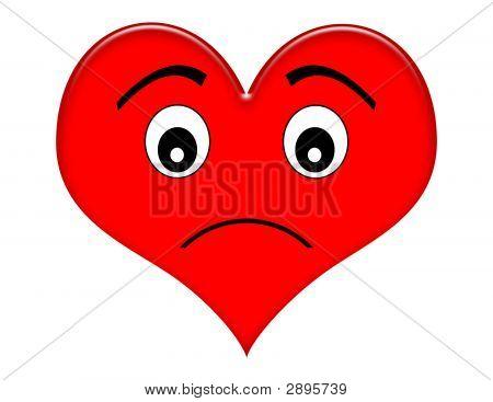Cartoon Frowning Heart