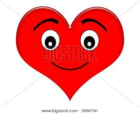 Cartoon Smiling Heart