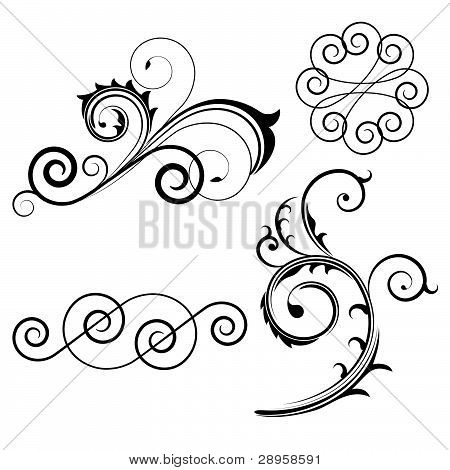 Set of swirl elements