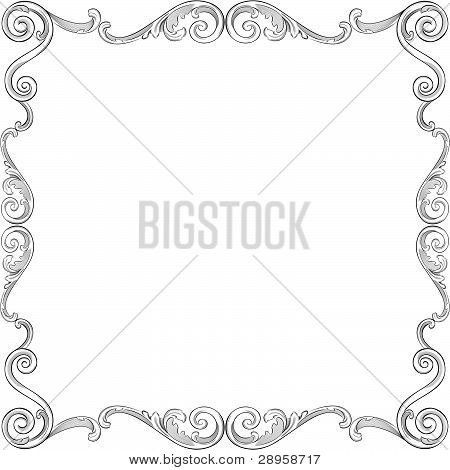 Beautiful Ornate Frame.eps