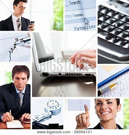 Composition of images representing business communication