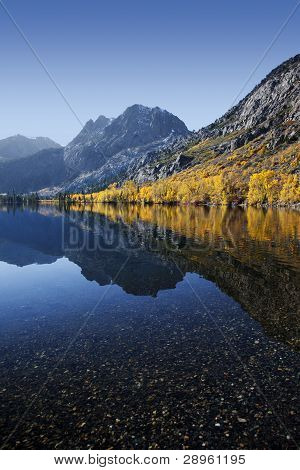Reflection Of Mountain Autumn Colors