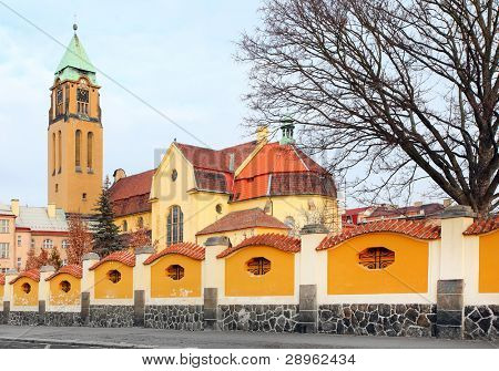 Neogothic church of The Virgin Mary and monastery (friary of st. Dominic) in Pilsen. Czech Republic, Europe.
