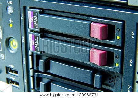 storage area with scsi hard drives