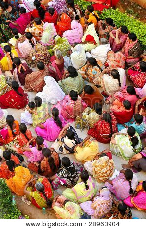 Indian Women In Colorful Saris