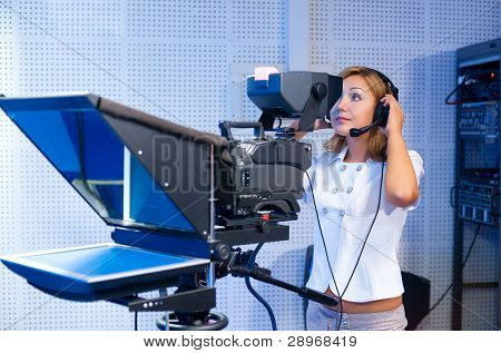Teleoperator At Tv Studio