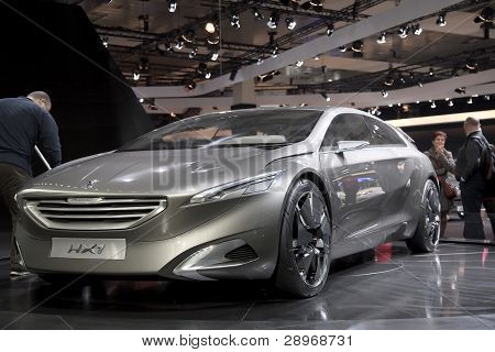 Brussels, Auto Motor Expo Peugeot Hx1 Concept Car