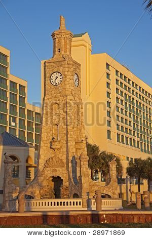 Clock Tower On The Beach