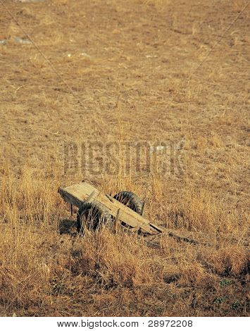 Old handcart in the countryside