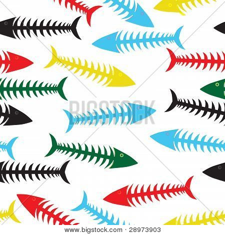 Fish Bone Background