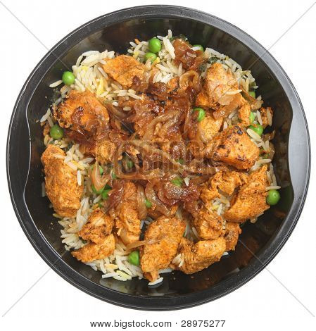 Indian chicken tikka biriyani convenience meal