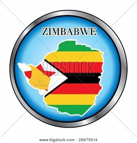 Zimbabwe Sahara Round Button