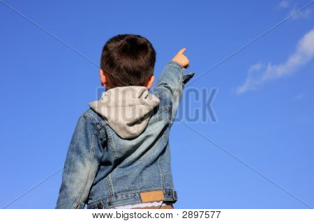 Young Boy Pointing 1