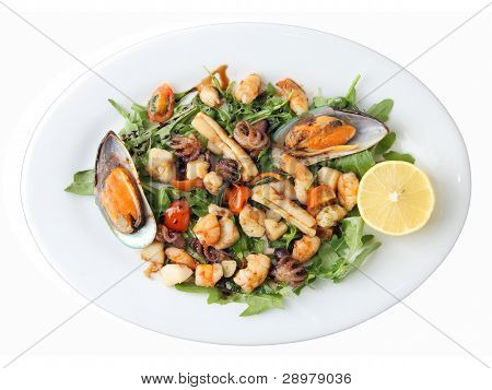 Plate With Fried Seafood