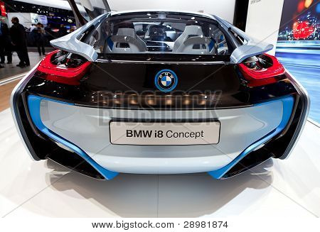 Bmw I8 Electric Concept Rear View