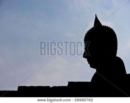 Estátua de Buda, silhueta