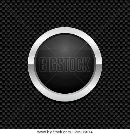 Vector Button On Carbon Fiber Background Istock