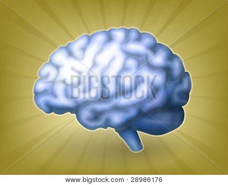 Human brain blue, bitmap copy