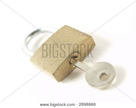 Lock And Key Over White